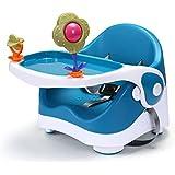 Star Ibaby Eat & Play - Trona portátil con bandeja y juguetes, color azul