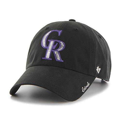 '47 MLB Colorado Rockies Women's Sparkle Clean Up Adjustable Hat, Black