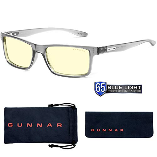 Gaming Glasses | Blue Light Blocking Glasses | Vertex/Smoke by Gunnar  | 65% Blue Light Protection, 100% UV Light, Anti-Reflective To Protect & Reduce Eye Strain & Dryness