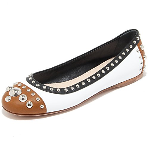 8438I Panna Donna Scarpe Marrone Nero Shoes Nero Marrone Prada Women Panna Ballerina 1nw67FxZq