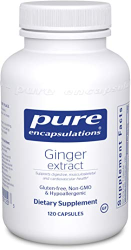 Pure Encapsulations - Ginger Extract - Hypoallergenic Zingiber Officinale Supplement - 120 Capsules