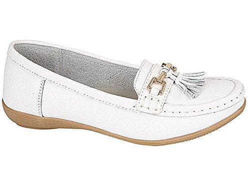 Foster Footwear - Mocasines de Piel para hombre Blanco - blanco