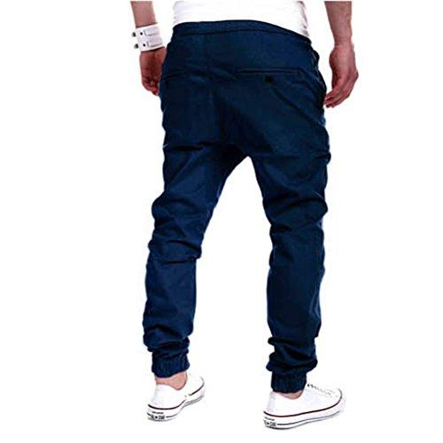 Robo Hiphop Homme Crotch Casual De Fitness Loose Jogging Foncé Sport bleu A Jogger Pantalon Sarouel Loisirs qRqfr