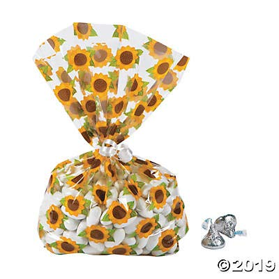 Sunflower Cellophane Bags - 12
