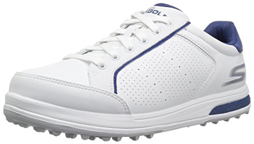 Skechers Men's Go Drive 2 Relaxed Fit Golf-Shoes,white/navy,12 M - Golf Relaxed