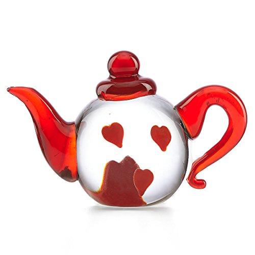 Lenox Poppies (Lenox Tiny Hearts Art Glass Teapot Paperweight)
