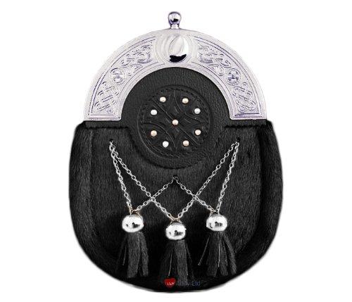 06d5f5b11ce3 Dress Sporran Pendant Tassels Studded Targe Arch Black