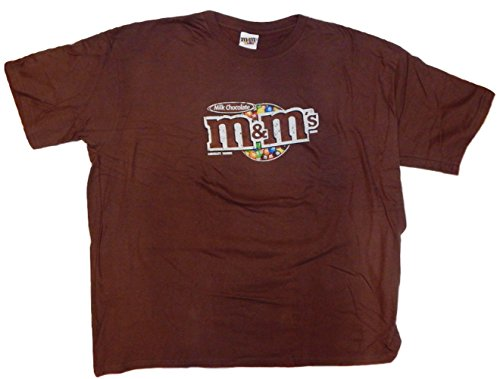 M&M's Candy Silly Character Face T-Shirt (XXX-Large, Brown -