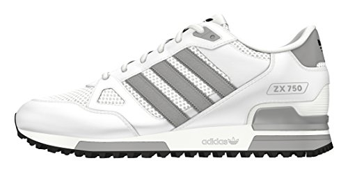 adidas ZX 750, Chaussures de Sport Mixte Adulte Blanc (Ftwr White/mgh Solid Grey/core Black)