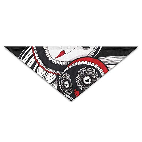 FFR EGM HAQSK CUFD Eco-Friendly Abstract Owl Art Painting Triangle Pet Scarf Dog Bandana Pet Collars,Soft Head Scarfs Accessories Pet bib Pet Supplies (Pic Owl Art)