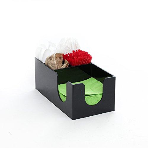 Mind Reader Condiment and Accessories Organizer, 5 Compartment, Black