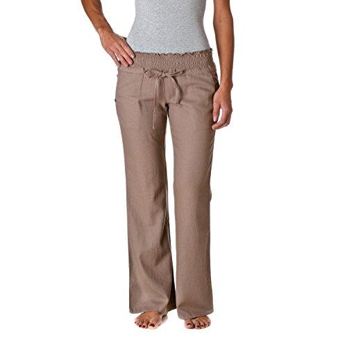Love Tree Women's Linen Drawstring Pants, Mocha, Small