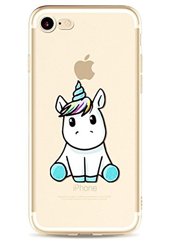 Coque iPhone 7 , ivencase Coque Housse Etui TPU Silicone Clair Transparente Ultra Mince Anti-Scratch Back Case Cover pour iPhone 7