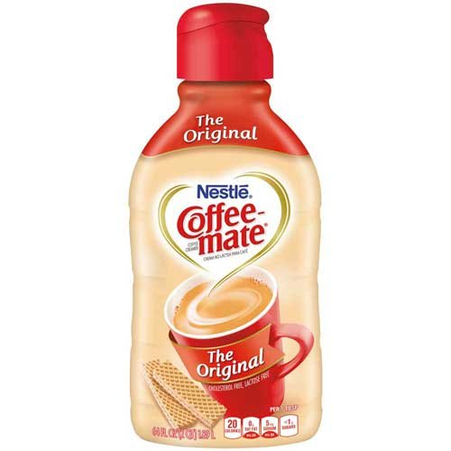 Nestle Coffee Mate Original Non Dairy Liquid Creamer, 64 Fluid Ounce -- 6 per case. by Nestle