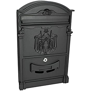 Locking Wall Mounted Mailbox Vintage Style With Crest