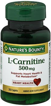 Nature's Bounty L-Carnitine 500 mg Caplets - 30 ct, Pack of 6
