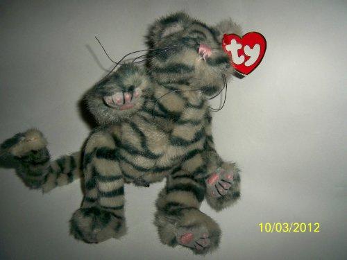 (Ty Attic Max Gray Striped Cat)