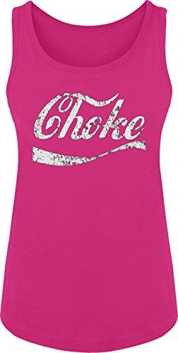 BSW Women's Choke Funny Coke Parody Tank XS Raspberry -