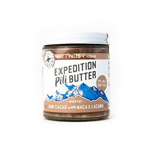 Pili Hunters Raw Cacao Pili Nut Butter with Maca, Lucuma, Paleo, Vegan, Low Carb - 6 oz. Jar