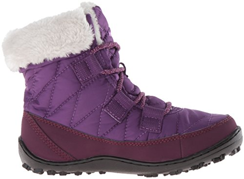 Columbia BY1334 - Botas bajas de invierno para niñas Morado (Iris Glow, Northern Lights 592Iris Glow, Northern Lights 592)