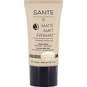 SANTE Naturkosmetik – Fonde de teint minéral, effet mat, végan, 30 ml