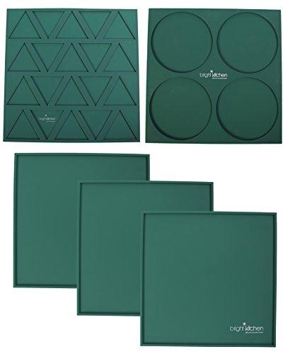 3 Edge Sheets + 1 Triangle Mold + 1 Circle Mold - 14
