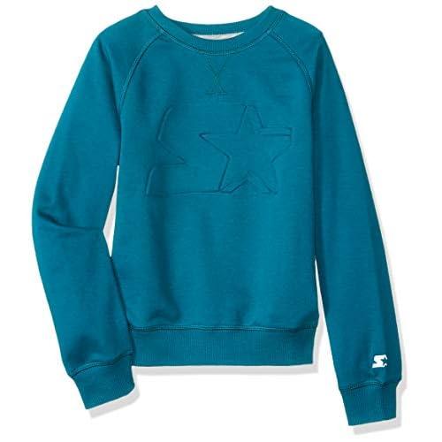 Starter Girls' Lightweight Crewneck Sweatshirt with...