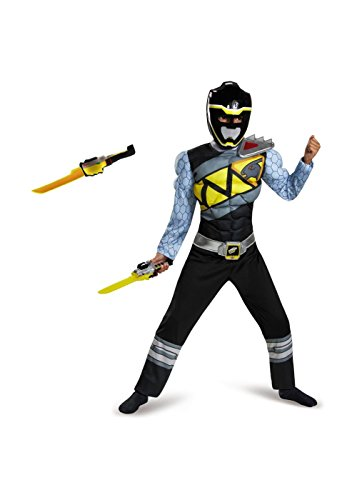 Black Power Ranger Dino Charge Boys Costume and Toy Sword (Power Rangers Outfit)