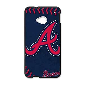 MLB Atlanta Braves Black Phone Case for HTC M7