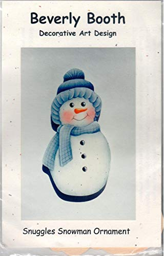 Snowman Folk Art Kit, Decorative Tole Art Painting Pattern & Wood Ornament Beverly Booth, The Tole Booth, Snuggles Snowman Ornament