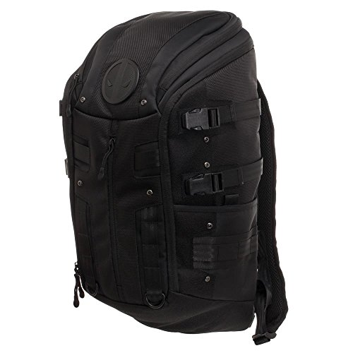 Deadpool Tactical Backpack - Black Tactical Backpack w. Deadpool Logo -