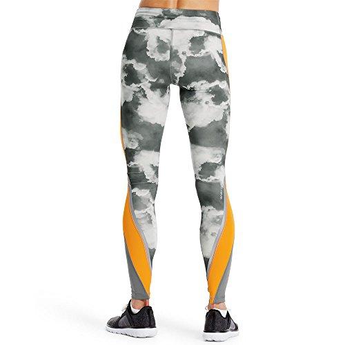 Mission Women's VaporActive Altitude Full Length Leggings, Quiet Shade/Cloud Quiet Shade/Gold Fusion, Medium