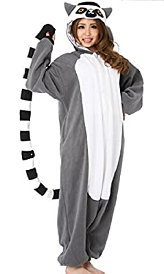 WOTOGOLD Animal Cosplay Costume Lemur Unisex Adult Pajamas