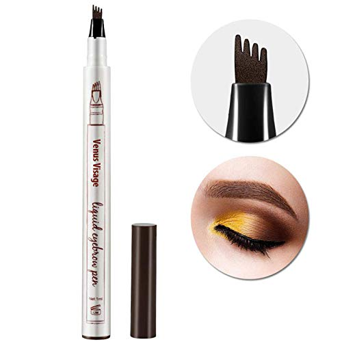 Venus Visage Eyebrow Tattoo Pen Microblading Eyebrow Pencil Tattoo Brow Ink Pen with a Micro-Fork Tip Applicator Creates Natural Looking Brows Effortlessly and Stays on All Day