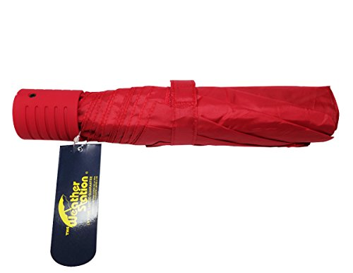 the-weather-station-42-inch-manual-fold-compact-folding-umbrella-in-red