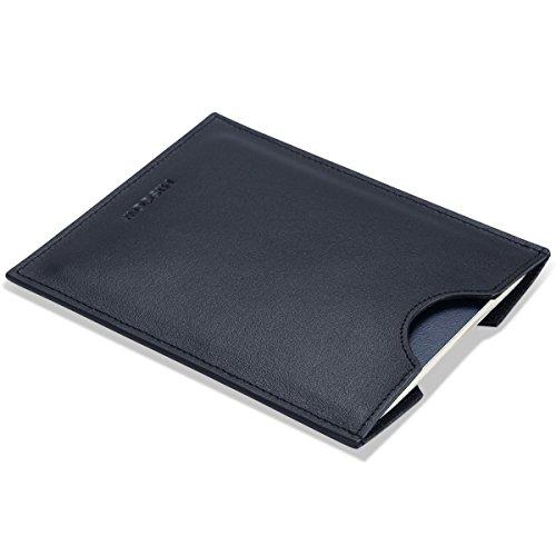 - HISCOW Minimalist Passport Sleeve - Italian Calfskin (Black)