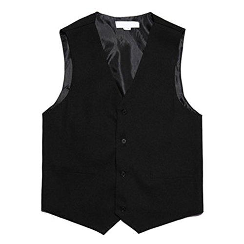 TopTie Waiter Bartender Uniform Unisex Button Vest For Supermarket Clerk & Volunteer BLACK-M