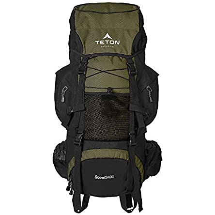 TETON Sports Scout 3400 Internal Frame Backpack; High-Performance...