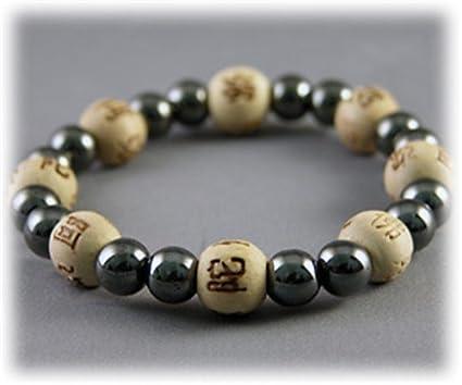 Bracelet Perles De Karma Hematite Bois Noir Amazon In Office