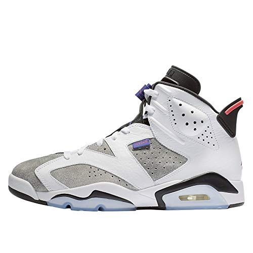 Nike Jordan Men's Retro 6 White/Dark Concord/Black/Infrared 23 Leather Basketball Shoes 12 M US (Jordan Retro Infrared 23)