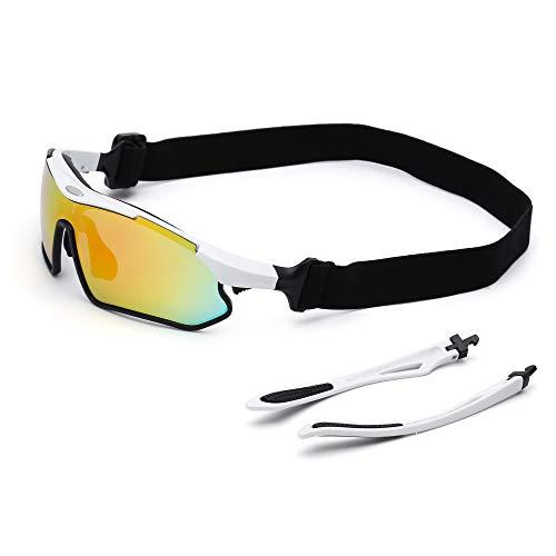 Ciclismo Al Aire Libre Deporte Gafas de Sol Cambiable Templo Deporte Anteojos Para Equitación Alpinismo Conducir Correr Pescar Blanco Negro: Amazon.es: Ropa ...