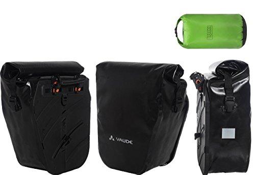 vaude Aqua Back SINGLE Radtasche Sondermodell (1 Stück) - Farbe black + wasserdichter Packsack 5 liter (LACD Drybag superlight)