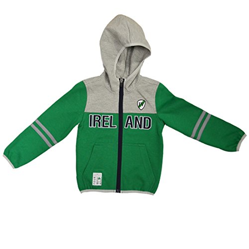 Lansdowne Emerald/Grey Performance Kids Full Zip Hoodie (7-8 Years)