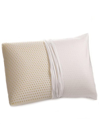 All Natural Latex Premium Talalay Pillow - Organic Cotton Covered (Standard Size)