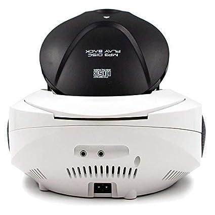 Lauson Radio y Reproductor de CD Portátil con Bluetooth y USB | Radio Am/FM | USB y Mp3 | CD Player con Salida para Auriculares 3.5mm | CP640 (Blanco): ...