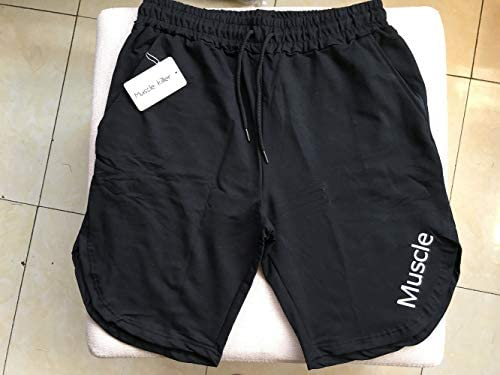 Muscle Killer Mens Solid Gym Workout Shorts Bodybuilding Running Loose Training Jogging Short Pants with Zipper Pocket