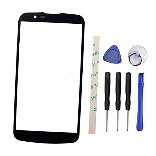 (Outer Screen Front Glass Lens Replacement for LG K7 K330 MS330 LS670 LS675 (Not LCD and Not digitizer) (Black))