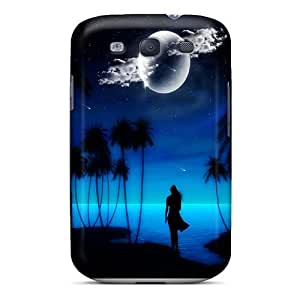 Tpu Case Cover For Galaxy S3 Strong Protect Case - Blue Design