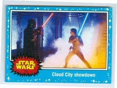 Luke Skywalker Fights Darth Vader trading card Journey to Star Wars Force Awakens 2015 Topps #57 Jedi Master versus Sith Lord for $<!---->