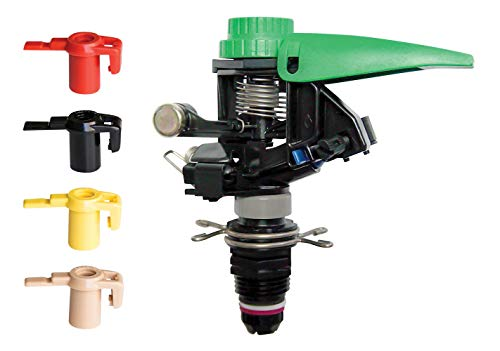 Rain Bird P5-R PLUS Plastic Impact Sprinkler with Nozzle Set, Adjustable 0° - 360° Pattern, 25' - 45' Spray Distance ()
